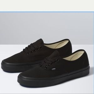 Vans Black Authentic Canvas Low Top Sneakers 10